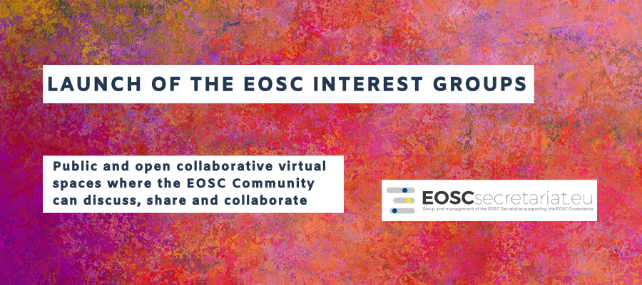 Launch of the EOSC Interest Groups