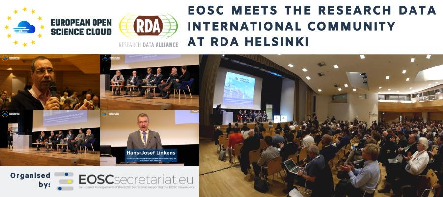 EOSC meets the research data international community at RDA Helsinki