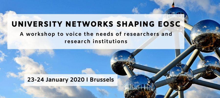 University Networks shaping EOSC – A workshop to voice the needs of researchers and research institutions