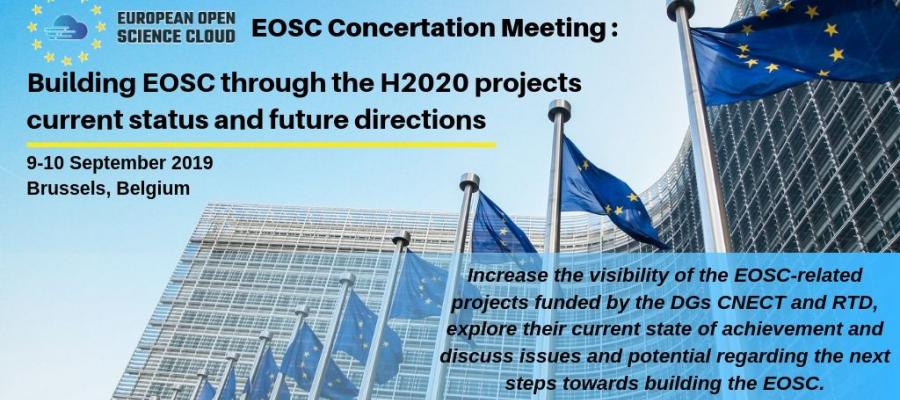 Building EOSC through the H2020 projects current status and future directions