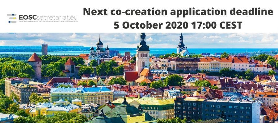 Co-Creation Funding Opportunities - Next application deadline on 5 October 2020