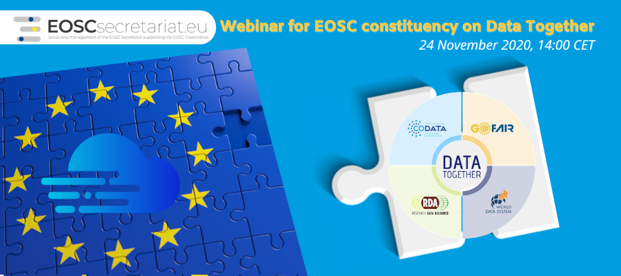Webinar for EOSC constituency on Data Together