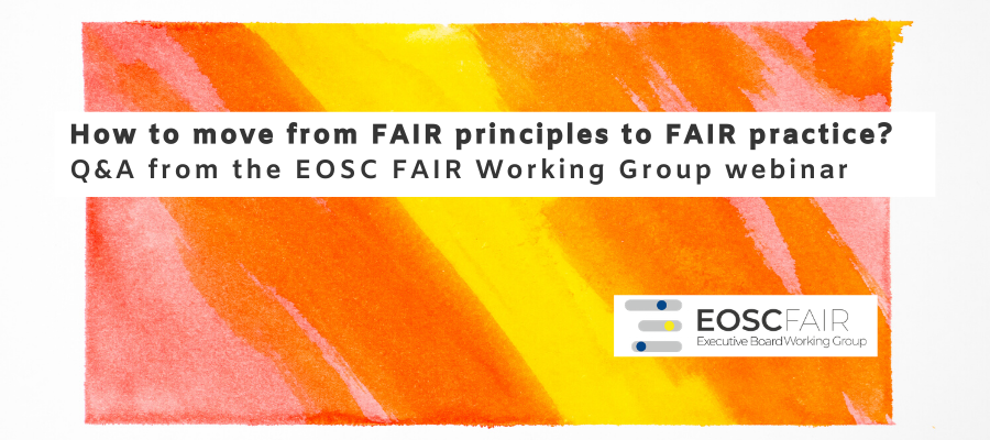 How to move from FAIR principles to FAIR practice? Q&A from the FAIR WG Webinar