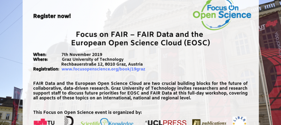 Focus on FAIR - FAIR Data and the European Open Science Cloud (EOSC)