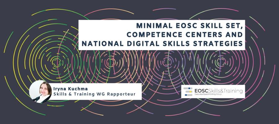 Minimal EOSC skill set, competence centers and national digital skills strategies