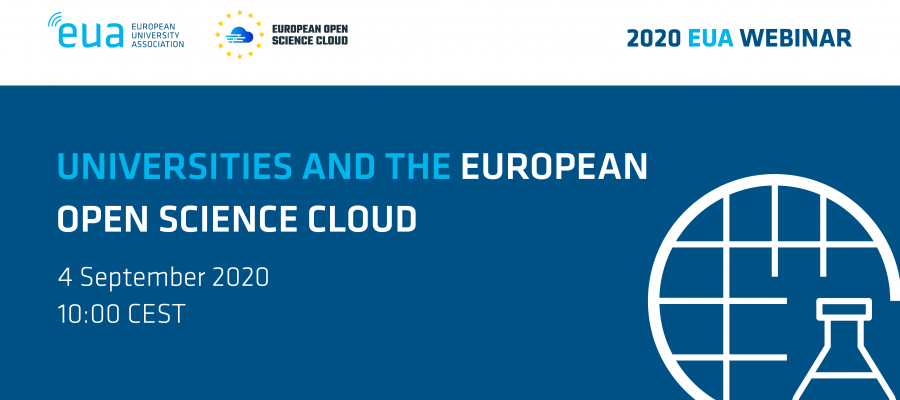 EUA webinar: Universities and the European Open Science Cloud