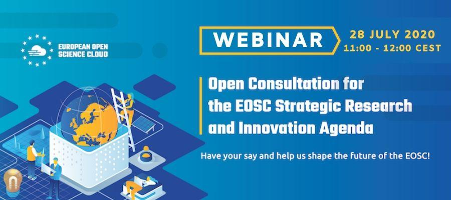 Webinar: Open consultation for EOSC Strategic Research and Innovation Agenda